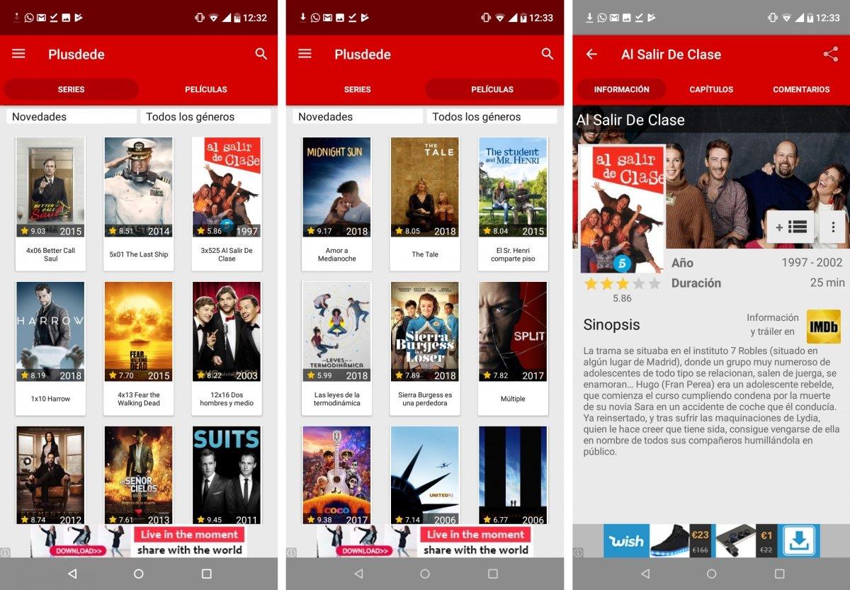 Plusdede es perfecto para ver series y pelis en Android