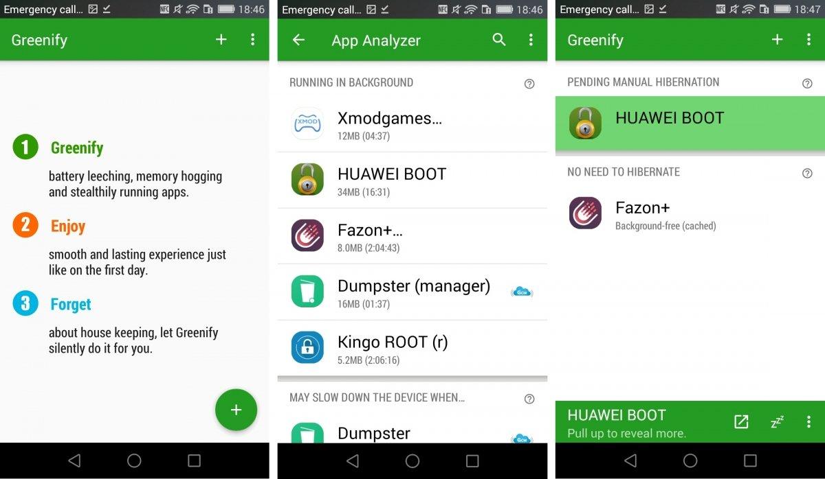 Pon tus apps a hibernar con Greenify
