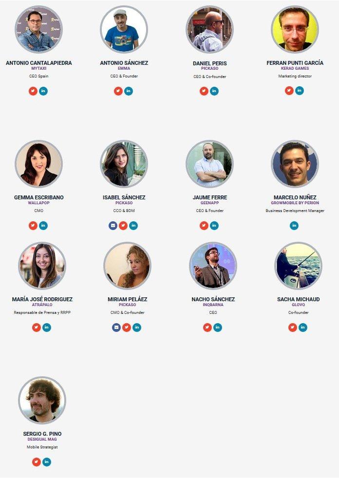 Ponentes en ORGANIC: The Party App by PickASO