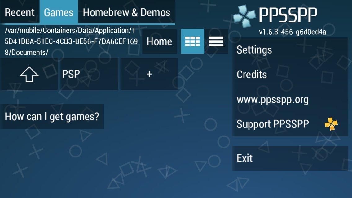 PPSSPP en iPhone instalado mediante un archivo IPA y Cydia Impactor