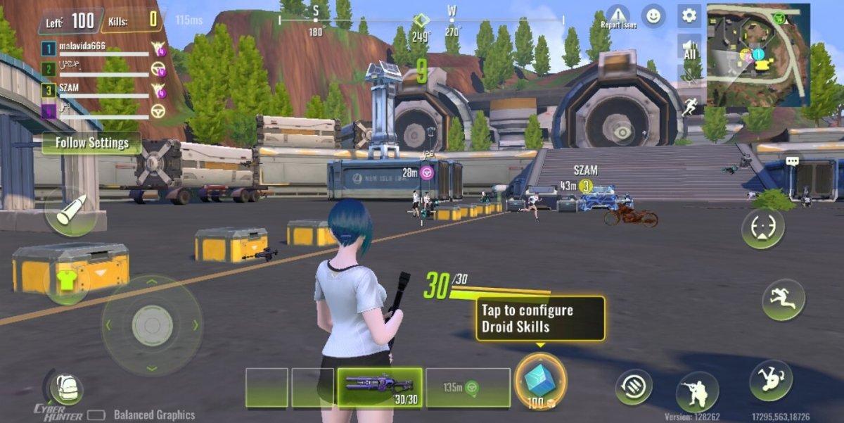Práctica de habilidades de juego en Cyber Hunter