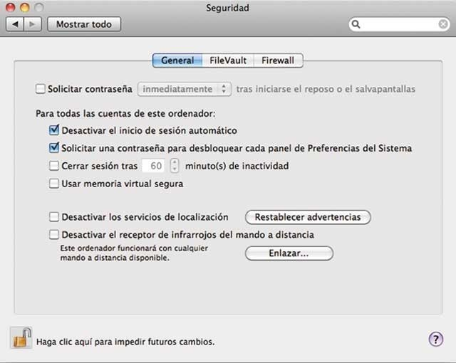 Preferencias Mac OS