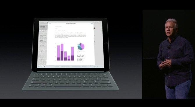 Presentación del iPad Pro en la última keynote