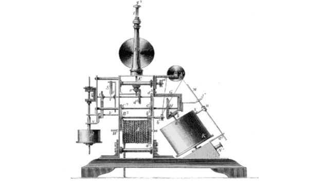 Primer fax primitivo de Alexander Bain