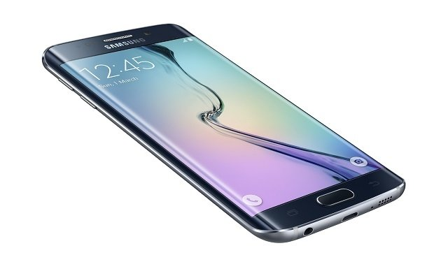Primer plano de la pantalla del Galaxy S6 Edge
