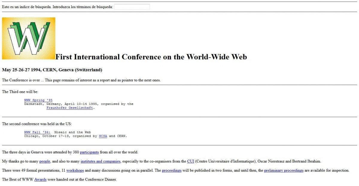 Primera Conferencia Internacional sobre la World Wide Web