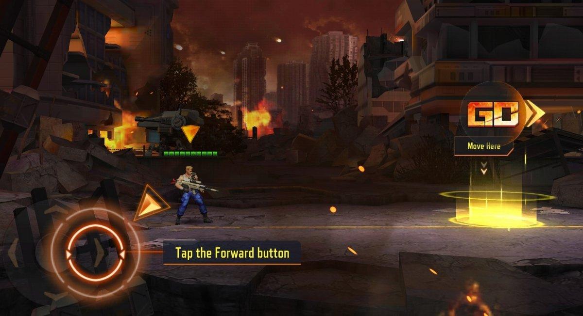Primera pantalla de Contra Returns