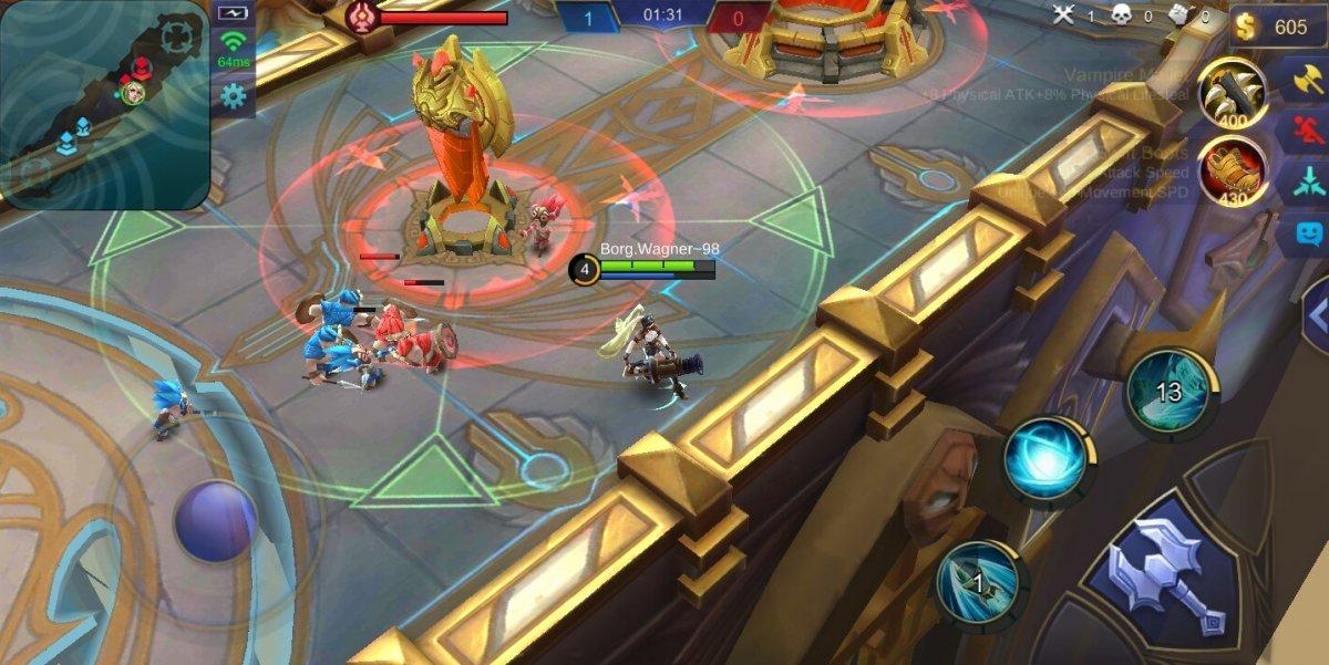 Primera partida en el juego Mobile Legends