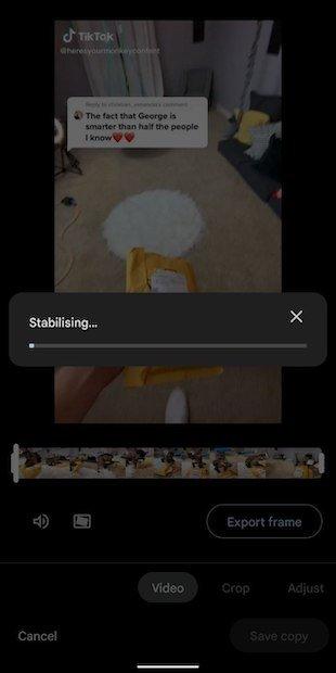 Proceso de establización del vídeo