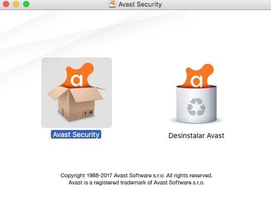 Proceso de instalación de Avast para Mac
