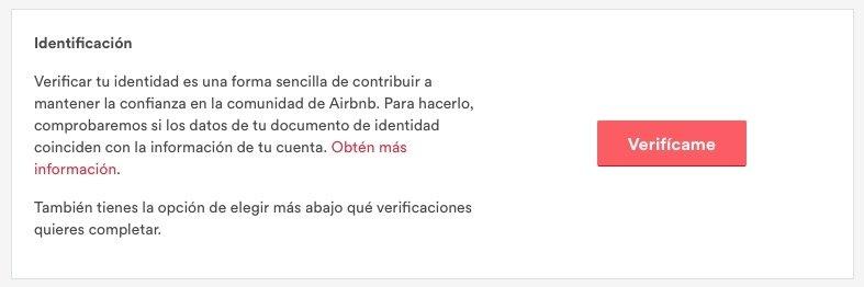 Proceso de verificación para anfitriones en Airbnb
