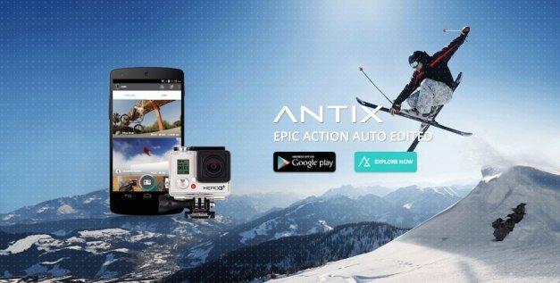 Antix crea automáticamente videos con tus mejores tomas de la GoPro