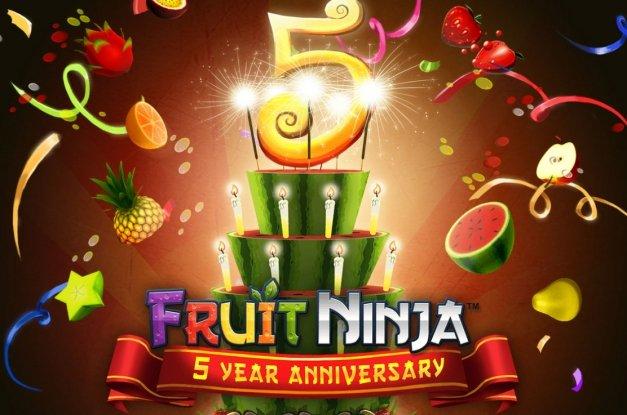 Fruit Ninja cumple 5 años y Halfbrick lo celebra con jugosas novedades
