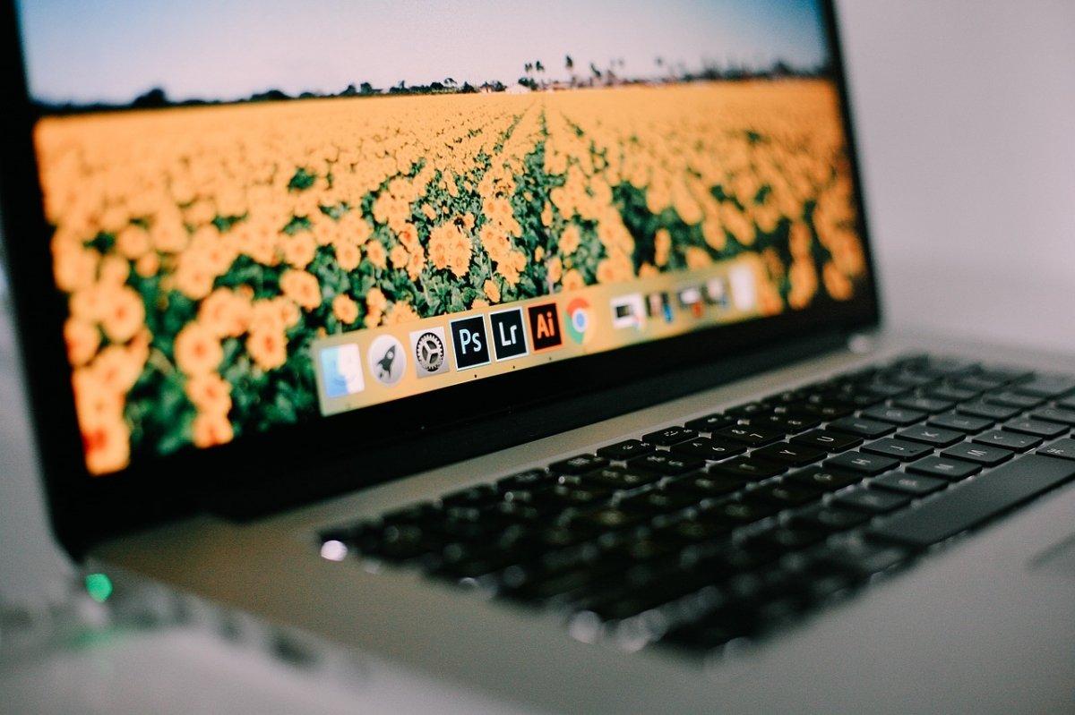 Programas en el dock de un Mac