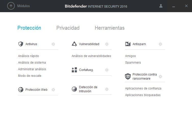 Protección, Privacidad y Herramientas de Bitdefender Internet Security 2016