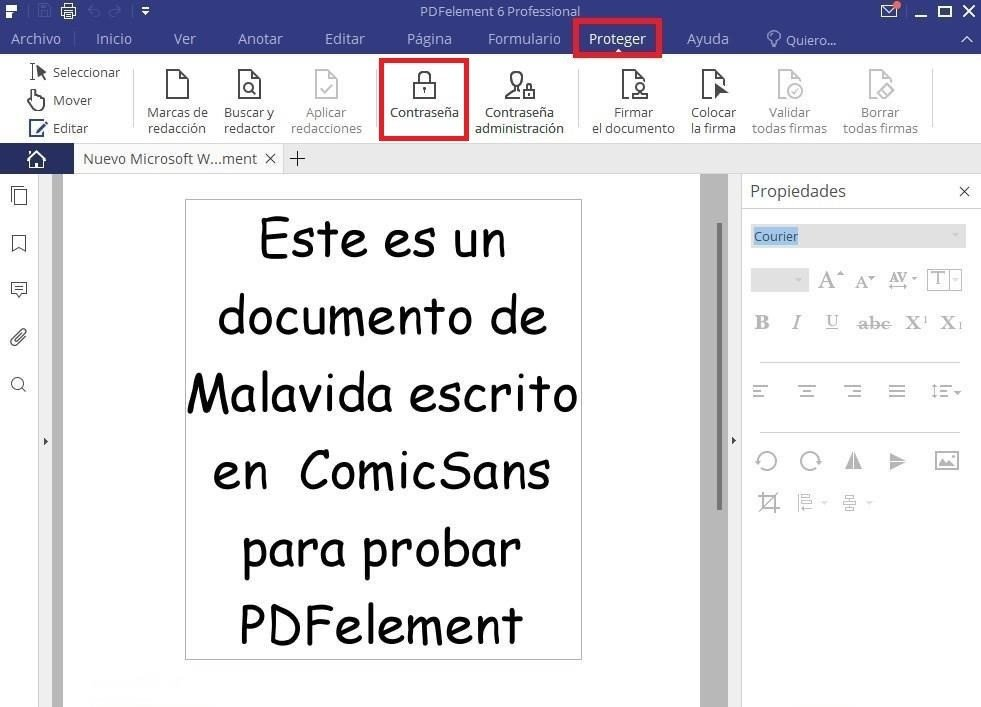 Proteger un archivo PDF con contraseña con PDFelement