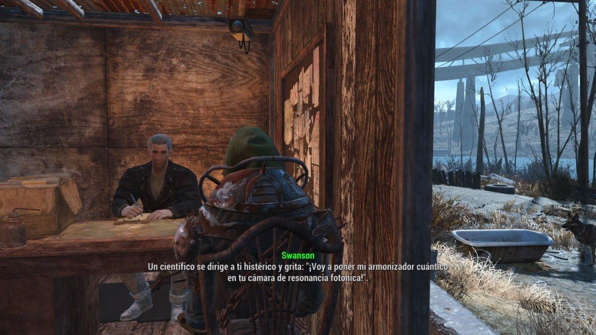 Prueba de Seguridad a la entrada de Covenant en Fallout 4