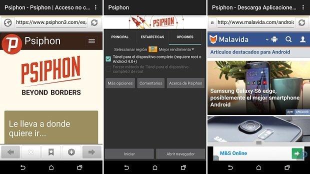 Psiphon, el navegador que presume de seguridad y privacidad