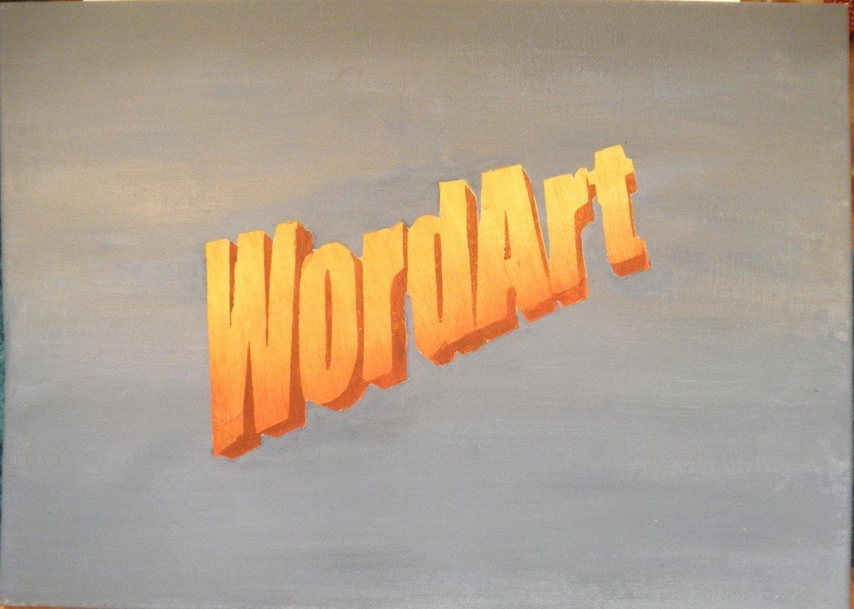 Qué preciosidades podíamos hacer con WordArt...