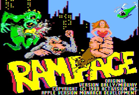 Rampage en Apple II