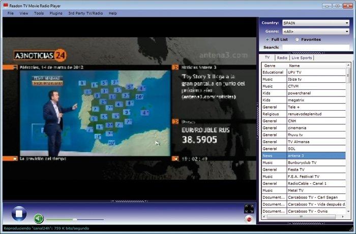 Readon TV Movie Radio Player 7.5
