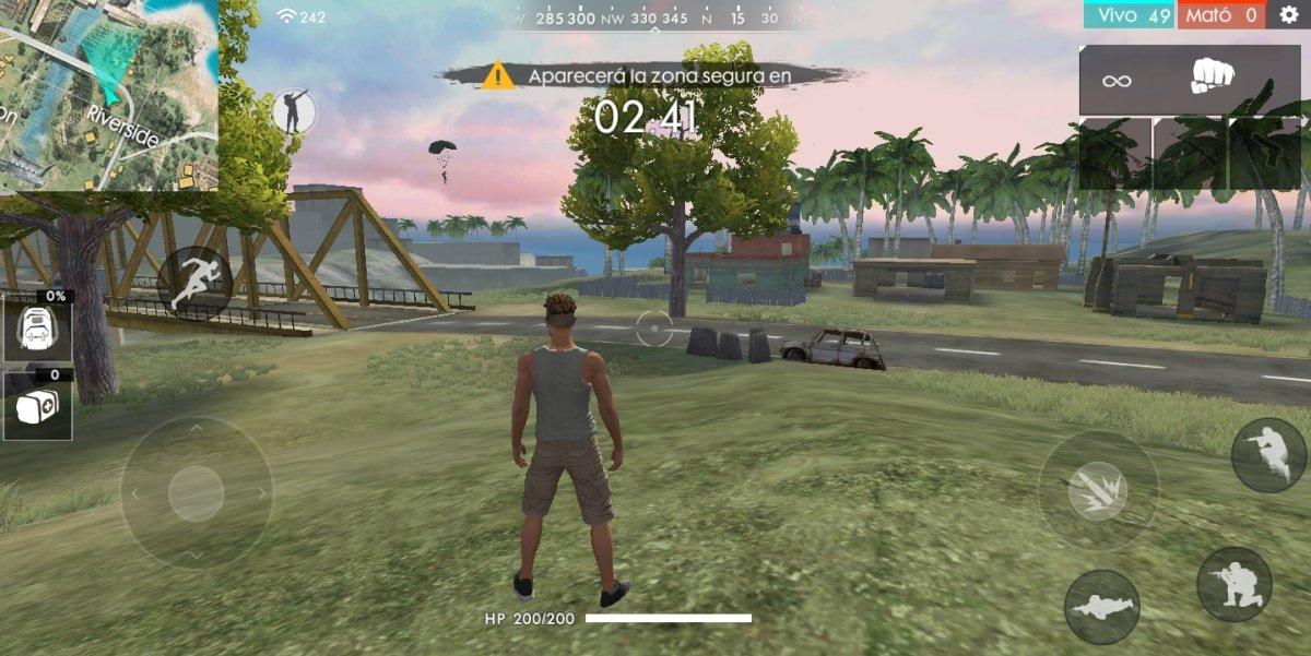 Recién aterrizado en la isla de Garena Free Fire