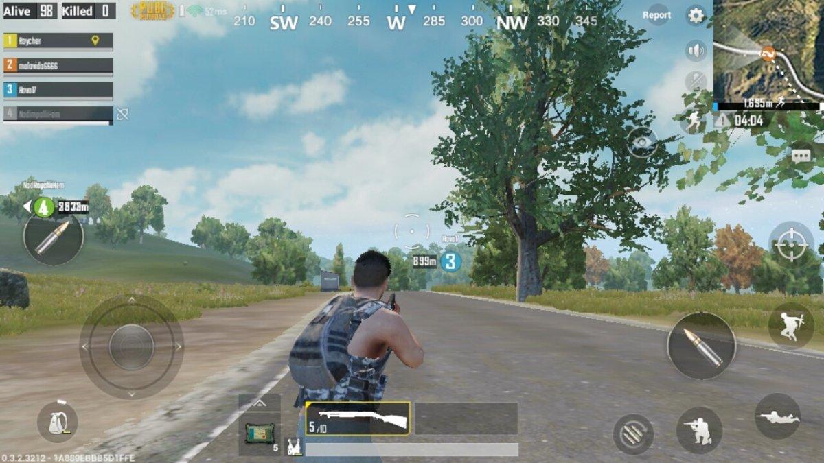 Recién aterrizado en la isla de PUBG Mobile