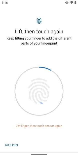 Registrar huella dactilar