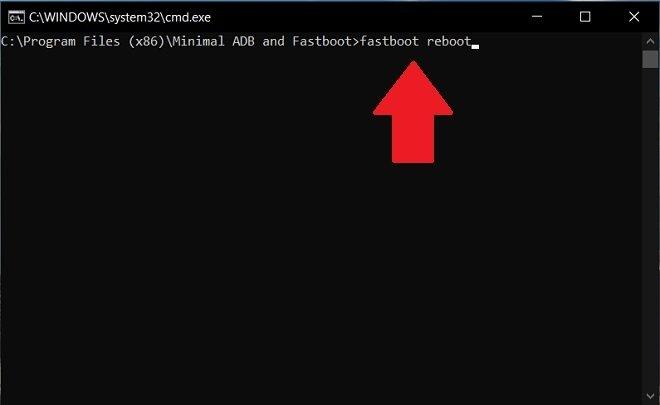 Reiniciar dispositivo con fastboot