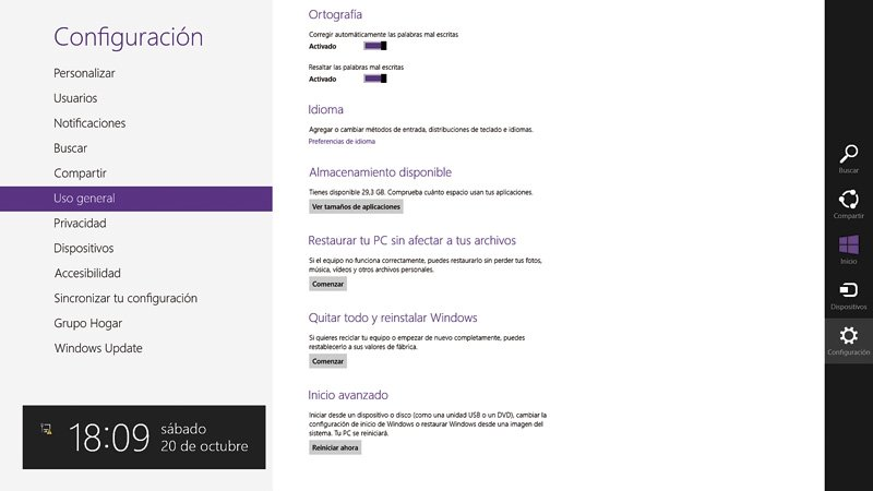 Reinstala Windows 8 1