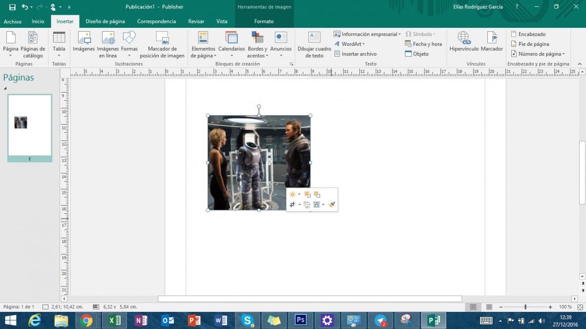 Rellenar imagen Microsoft Publisher