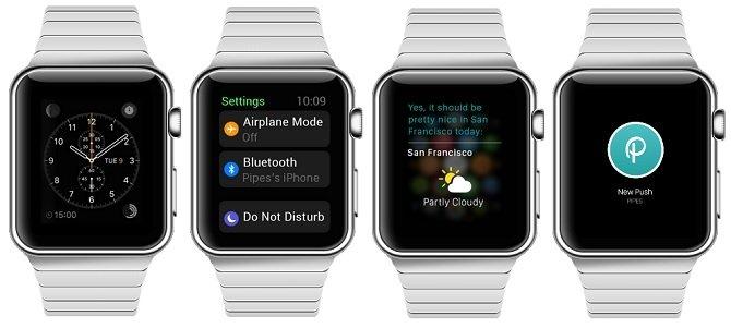 Reloj, configuración, tiempo y notificaciones push en Apple Watch