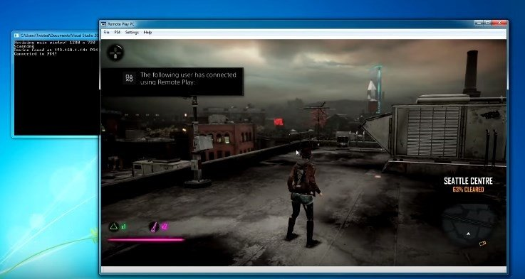 Remote Play PC: inFamous Second Son de PS4 a PC