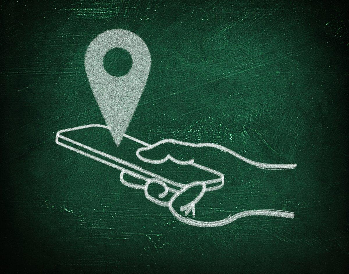 Representación de localización GPS en un móvil