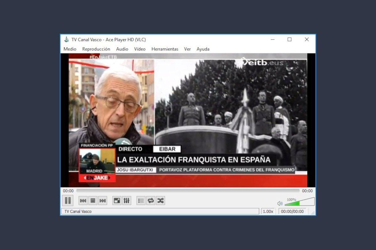 Reproducción de un canal de TV con Ace Stream