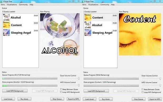 Reproduciendo Alcohol y Content en i-Doser