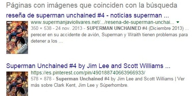 Resultados de la búsqueda inversa: páginas que albergan imágenes similares