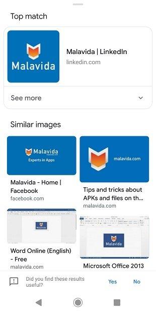 Resultados en Google Photos