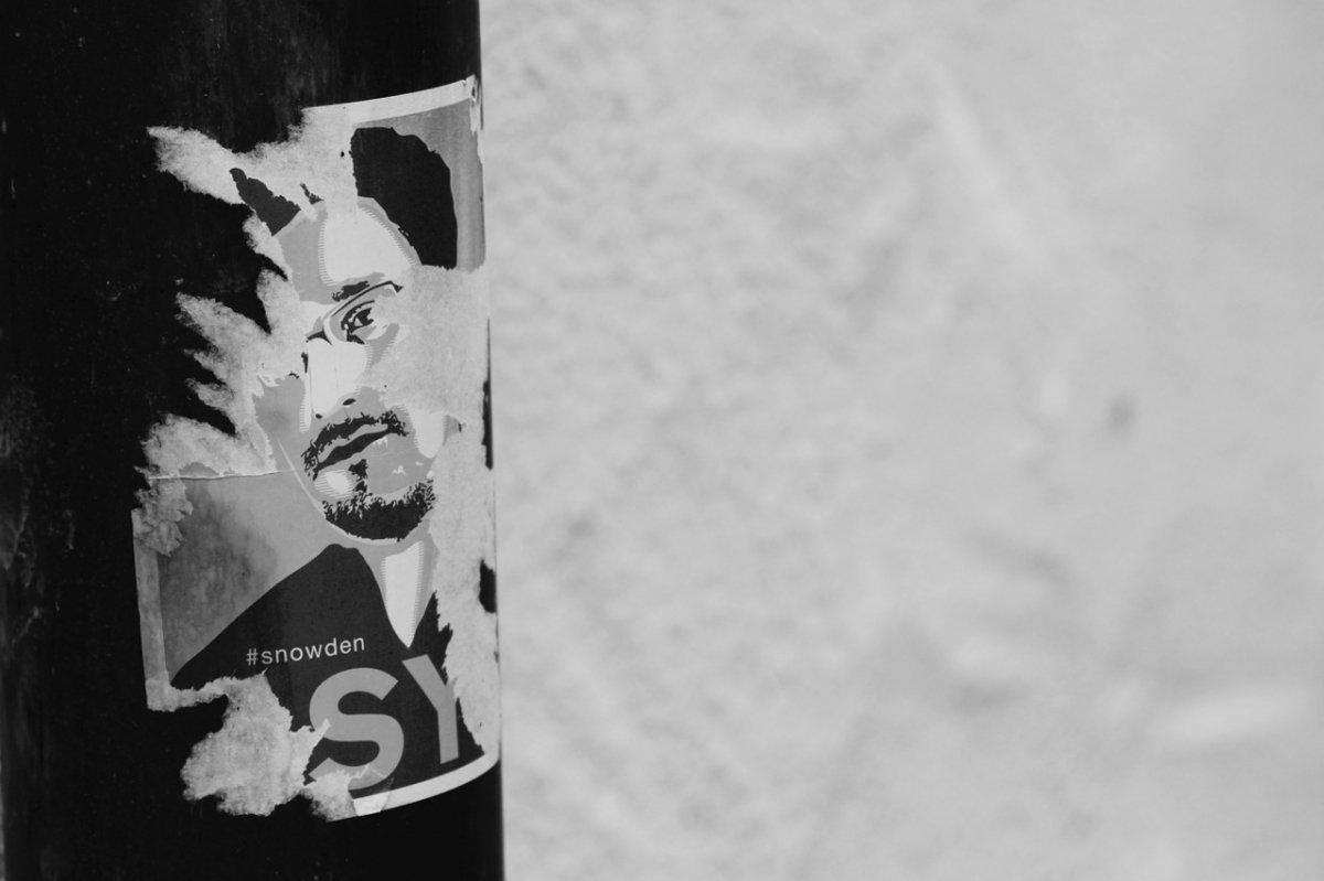 Retrato artístico de Edward Snowden