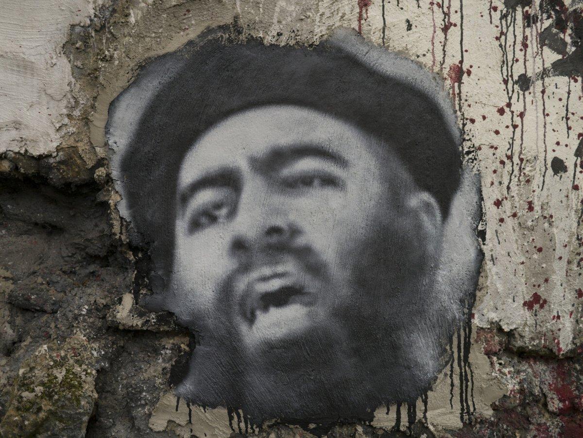 Retrato de Abu Bakr al Baghdadi, líder del ISIS