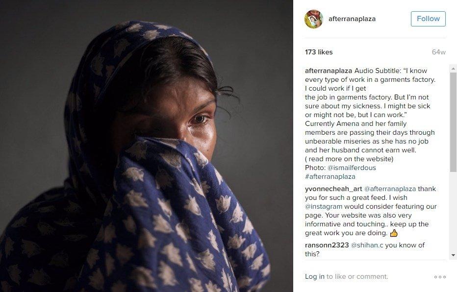 Retrato de una de las afectadas por el desastre de Rana Plaza