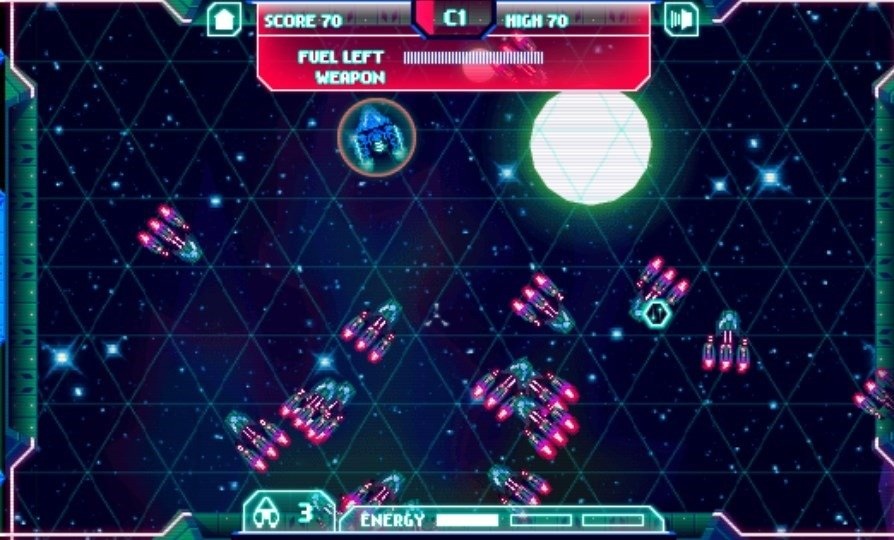 Revive los clásicos arcades de naves espaciales con War Games: Space Dementia
