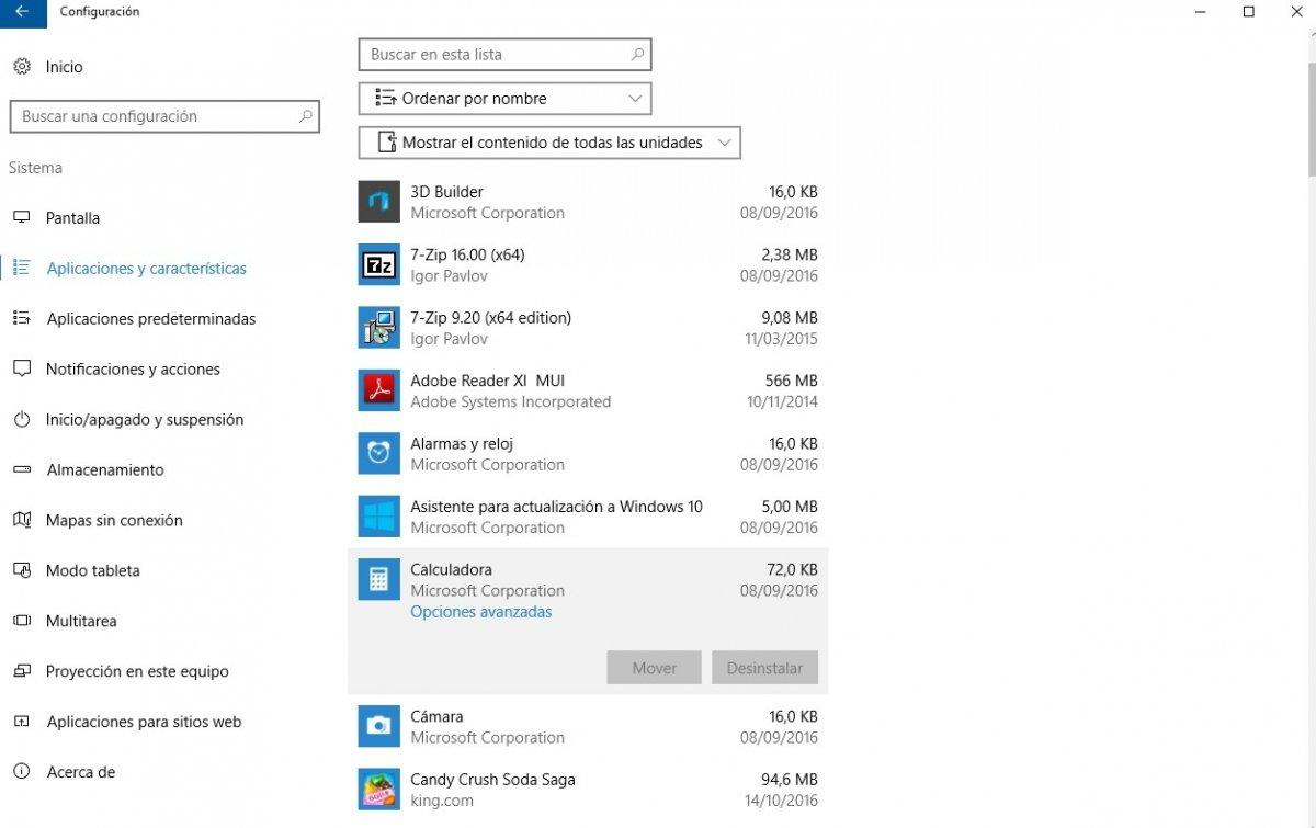Se podrán eliminar las aplicaciones preinstaladas de Windows desde la configuración del sistema