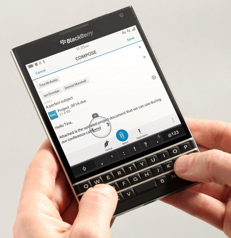 Se presenta BlackBerry Passport, el smartphone cuadrado - imagen 4