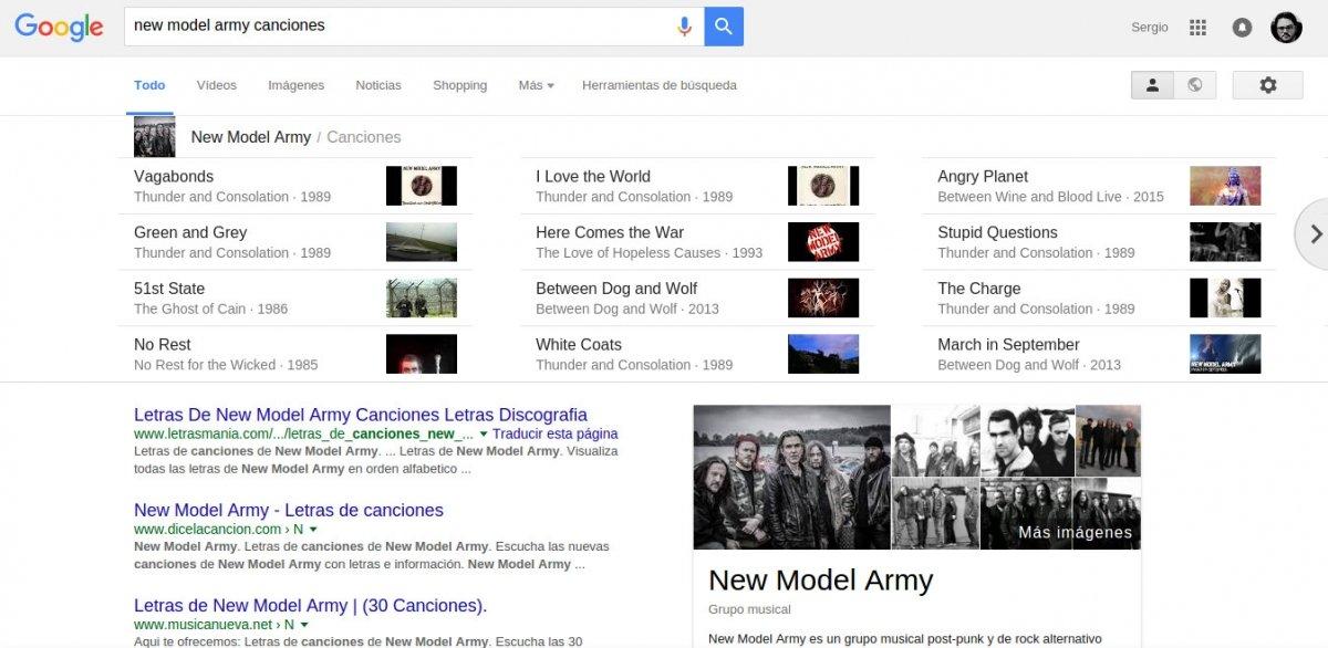 Se pueden buscar canciones de cualquier artista en Google para escuchar