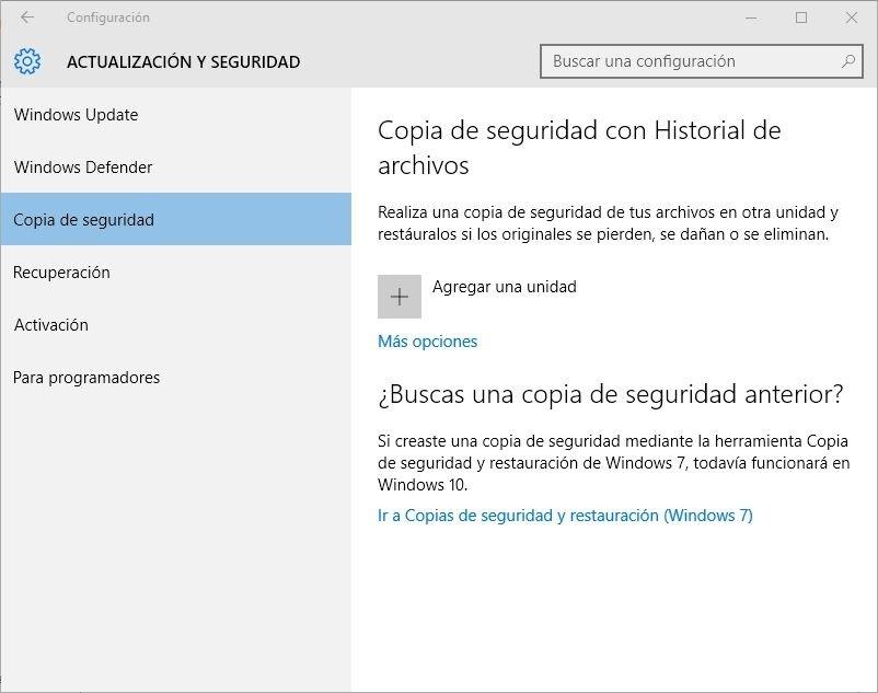 Se pueden restaurar los datos de usuario mediante una copia de seguridad