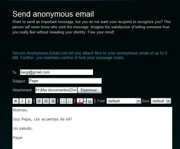 Secure Anonymous Email