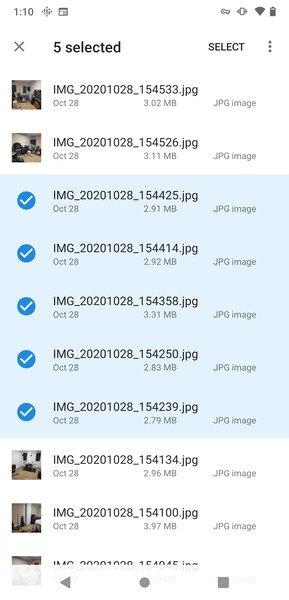 Selección de imágenes para crear un GIF