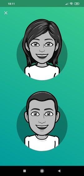 Selección del género del avatar