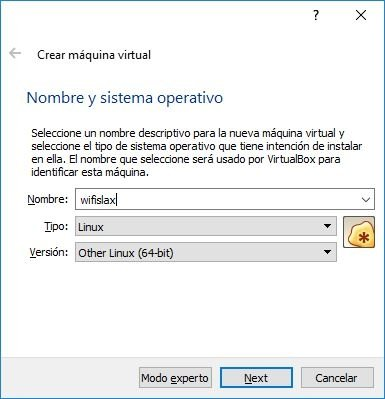 "Seleccionamos ""Other Linux (64-bit)"""